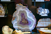 Purple Quartz from Germany. Photographed at the Natural History Museum, Vienna, Austria