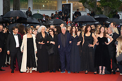 Antoine Sire, Claude Lelouch, Anouk Aimee, Marianne Denicourt, Monica Bellucci and Tess Lauvergne attending the Les Plus Belles Annees d'une vie Premiere as part of the 72nd Cannes Film Festival, on May 18, 2019 in Cannes, France. Photo by Jerome Domine/ABACAPRESS.COM
