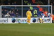 Bristol Rovers Jermaine Easter(17) shoots at goal scores a goal 1-2 during the EFL Sky Bet League 1 match between Bristol Rovers and Millwall at the Memorial Stadium, Bristol, England on 30 April 2017. Photo by Shane Healey.