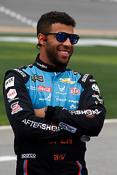 February 10, 2019 - Daytona, FL, U.S. - DAYTONA, FL - FEBRUARY 10: Darrell Wallace Jr., Richard Petty Motorsports, Chevrolet Camaro Aftershokz (43) during qualifying for the 61st annual Daytona 500 on February 10, 2019 at Daytona International Speedway in Daytona Beach, Florida  (Photo by Jeff Robinson/Icon Sportswire) (Credit Image: © Jeff Robinson/Icon SMI via ZUMA Press)