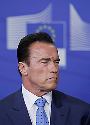 59895734<br /> U.S. actor and former Governor of California Arnold Schwarzenegger attends a press conference with European Commission President Jose Manuel Barroso (not seen) after their meeting at the European Union headquarters in Brussels, capital of Belgium, on June 24, 2013. They talked about climate change during their meeting on Monday  June 24, 2013. Picture by imago / i-Images<br /> UK ONLY