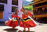 Dance of the Lord of Death and his consort,, Paro Tsechu (festival), Paro, Bhutan