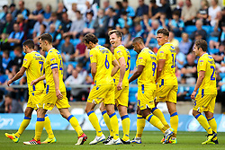 Tony Craig of Bristol Rovers celebrates with teammates after scoring a goal to make it 2-0 - Mandatory by-line: Robbie Stephenson/JMP - 18/08/2018 - FOOTBALL - Adam's Park - High Wycombe, England - Wycombe Wanderers v Bristol Rovers - Sky Bet League One
