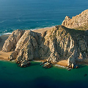 Aerial view of Lovers beach. Cabo San Lucas, BCS. Mexico.