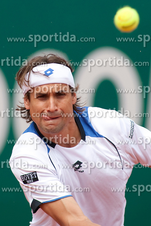 17.04.2010, Country Club, Monte Carlo, MCO, ATP, Monte Carlo Masters, im Bild David Ferrer (ESP) in action during the semi-final match between David Ferrer (ESP) and Rafael Nadal (ESP). EXPA Pictures © 2010, PhotoCredit:  EXPA/ M. Gunn / SPORTIDA PHOTO AGENCY