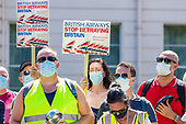 Britain BA Job Losses Protest