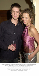 MISS CATHERINE BOONE and MR JESSE WOOD son of Rolling Stone Ronnie Wood,  at a party in London on 18th February 2001.OLK 142