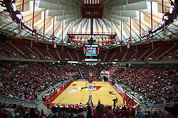 28 March 2010: Inside Redbird Arena. The Redbirds of Illinois State squeak past the Illini of Illinois 53-51 in the 4th round of the 2010 Women's National Invitational Tournament (WNIT) on Doug Collins Court inside Redbird Arena at Normal Illinois.