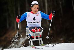 ABIKARIMOVA Akzhana RUS at the 2014 IPC Nordic Skiing World Cup Finals - Long Distance