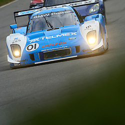 The Telmex Chip Ganassi Racing with Felix Sabates  BMW Riley driven by Scott Pruett of the United States and Memo Rojas of Mexico during the Grand-Am Rolex Sports Car Series Championship weekend at Lime Rock Park in Lakeville, Conn.