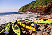 Kayaking, North Shore, Molokai, Hawaii