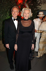 Actress HONOR BLACKMAN and actor NIKOLAS GRACE at Andy & Patti Wong's Chinese New Year party to celebrate the year of the Rooster held at the Great Eastern Hotel, Liverpool Street, London on 29th January 2005.  Guests were invited to dress in 1920's Shanghai fashion.<br /><br />NON EXCLUSIVE - WORLD RIGHTS
