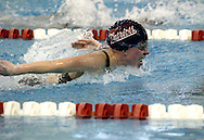 Carroll sophomore Megan Borchers competes in the 200 yard individual medley during the Girls Division II District Swimming Tournament at the Corwin Nixon Natatorium at Miami University, Saturday, February 16, 2008.