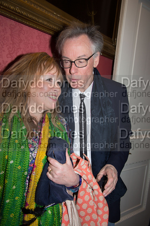 MARY KILLEN; ANDREW BARROW, The Literary Review Bad Sex in Fiction Award 2014. The In and Out ( Naval and Military ) Club, 4 St. James's Sq. London SW1. 3 December 2014.