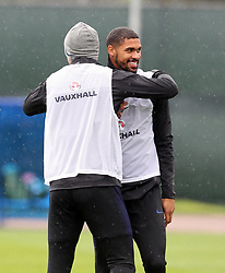 England's Ruben Loftus-Cheek (right) during a training session at Spartak Zelenogorsk Stadium.