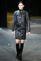 Katlin Aas walks down runway for F2012 Alexander Wang's collection in Mercedes Benz fashion week in New York on Feb 12, 2012 NYC