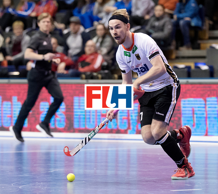 BERLIN - Indoor Hockey World Cup<br /> Men: Germany -  Trinidad &amp; Tobago<br /> foto: Christopher R&uuml;hr.<br /> WORLDSPORTPICS COPYRIGHT FRANK UIJLENBROEK