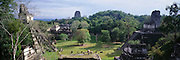 GUATEMALA, MAYAN, TIKAL Great Plaza, Acropolis and Pyramids