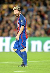 Lionel Messi of Barcelona smiles - Mandatory by-line: Dougie Allward/JMP - 19/10/2016 - FOOTBALL - Camp Nou - Barcelona, Catalonia - FC Barcelona v Manchester City - UEFA Champions League
