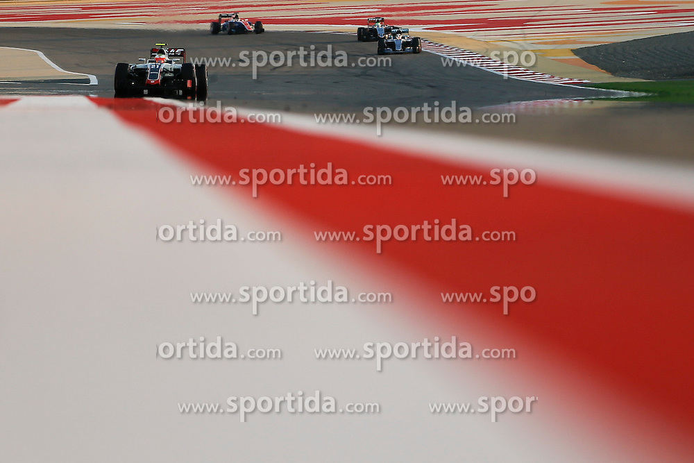 03.04.2016, International Circuit, Sakhir, BHR, FIA, Formel 1, Grand Prix von Bahrain, Rennen, im Bild Esteban Gutierrez (MEX) Haas VF-16 // during Race for the FIA Formula One Grand Prix of Bahrain at the International Circuit in Sakhir, Bahrain on 2016/04/03. EXPA Pictures &copy; 2016, PhotoCredit: EXPA/ Sutton Images/ Gasperotti/<br /> <br /> *****ATTENTION - for AUT, SLO, CRO, SRB, BIH, MAZ only*****