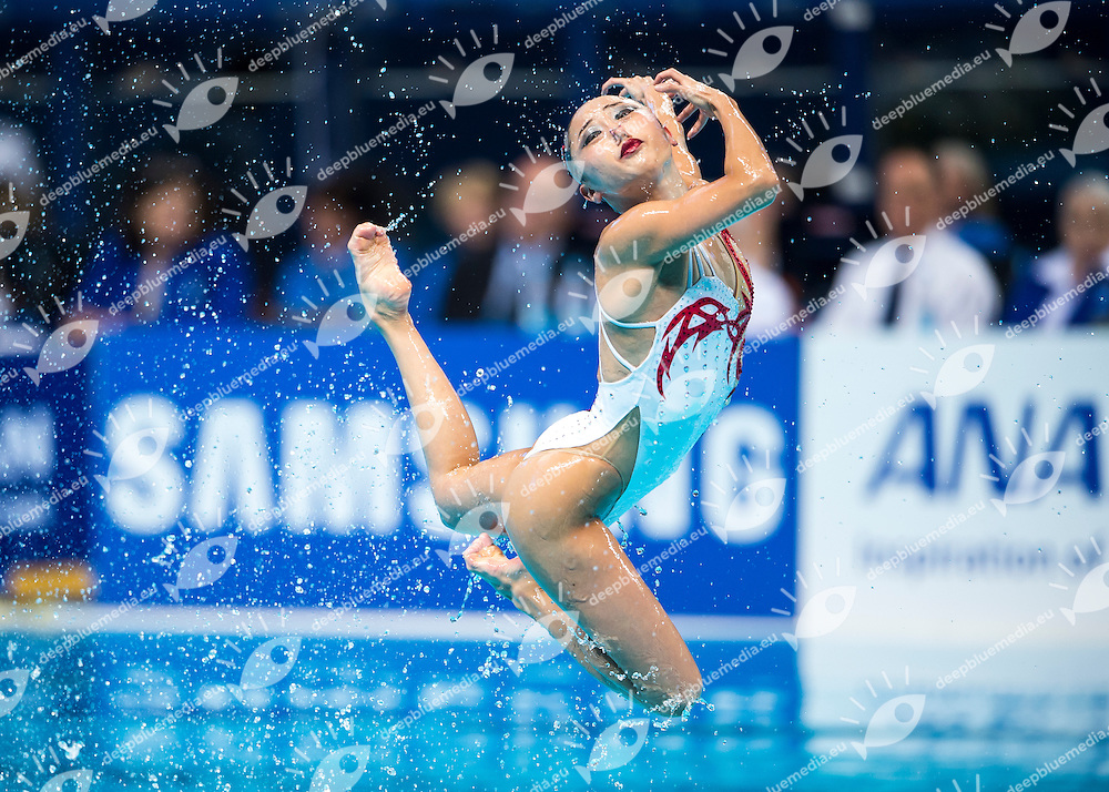 ABE Atsushi and ADACHI Yumi JPN<br /> Synchro - Mixed duet free final<br /> Day 07 30/07/2015<br /> XVI FINA World Championships Aquatics Swimming<br /> Kazan Tatarstan RUS July 24 - Aug. 9 2015 <br /> Photo Giorgio Perottino/Deepbluemedia/Insidefoto