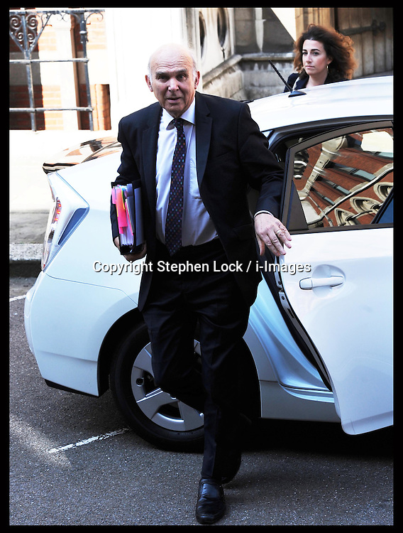 Business Secretary Vince Cable arriving at the Leveson Inquiry in London, Wednesday, May 30 th 2012  Photo by: Stephen Lock / i-Images
