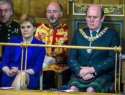 Pictured: Nicola Sturgeon and Frank Ross, Edinburgh's Right Honourable Lord Lieutenant and Lord Provost.<br /> <br /> The 2018 General Assembly of the Church of Scotland begins.This year's annual gathering runs until Friday May 25<br /> <br /> Ger Harley | EEm 19 May 2018
