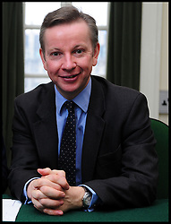 Leader of the Conservative Party David Cameron with Michael Gove, Member of Parliament for Surrey Heath in his office in Norman Shaw South, January 7, 2010. Photo By Andrew Parsons / i-Images.