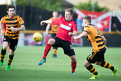 Brechin City's Alan Trouten  and Alloa Athletic's Calum Waters. Athletic 4 v 3 Brechin City (Brechin won 5-4 on penalties), Ladbrokes Championship Play-Off 2nd Leg at Alloa Athletic's home ground, Recreation Park, Alloa.