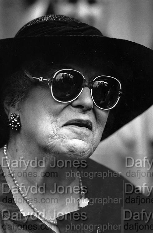 Mrs. Vivien Greene (Graham Greene's widow) Wearing sunglasses July 1991 ONE TIME USE ONLY - DO NOT ARCHIVE  © Copyright Photograph by Dafydd Jones 66 Stockwell Park Rd. London SW9 0DA Tel 020 7733 0108 www.dafjones.com