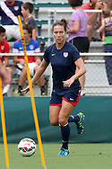 19 August 2014: Lauren Holiday. The United States Women's National Team held a public training session at WakeMed Stadium in Cary, North Carolina.