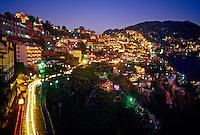 Shimla  at twilight (Himachal Pradesh), India