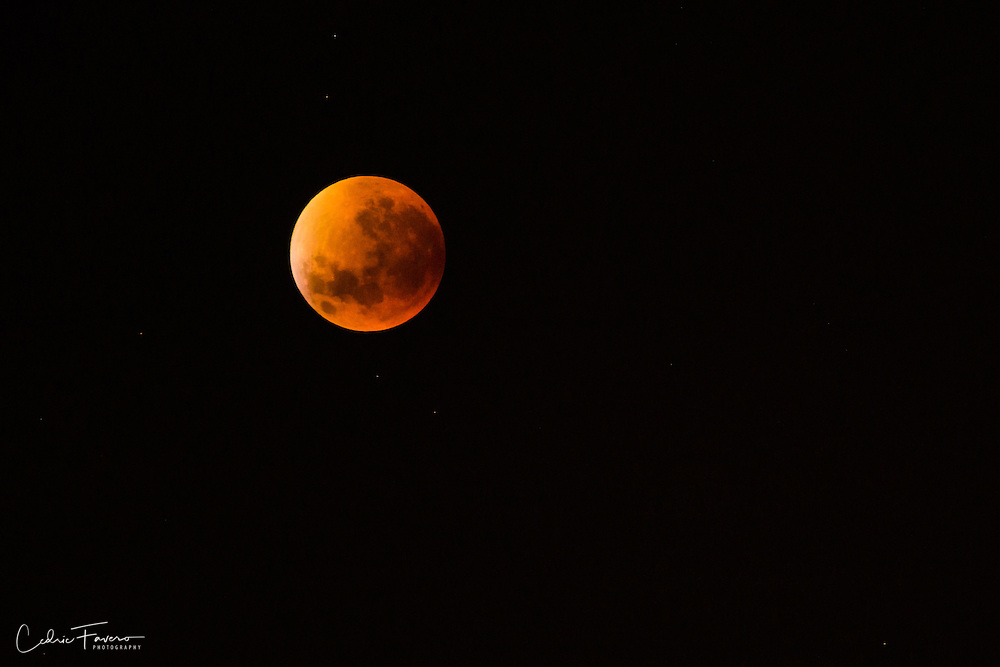 Total lunar eclipse of a supermoon, from Pretoria, South Africa