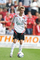 Wrexham, Wales - Saturday, July 7, 2007: Liverpool's Stephen Darby during a preseason match against Wrexham at the Racecourse Ground. (Photo by David Rawcliffe/Propaganda)