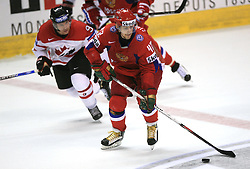 Sergei Zinoviev (42) of Russia at  ice-hockey game Canada vs Russia at finals of IIHF WC 2008 in Quebec City,  on May 18, 2008, in Colisee Pepsi, Quebec City, Quebec, Canada. Win of Russia 5:4 and Russians are now World Champions 2008. (Photo by Vid Ponikvar / Sportal Images)
