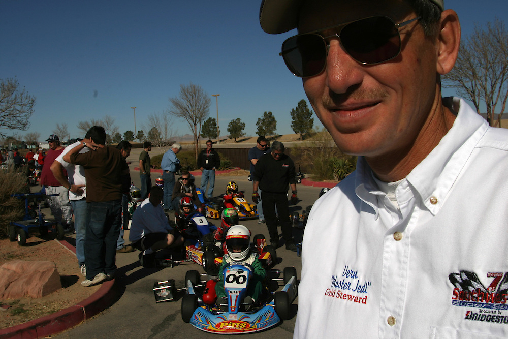 Gerald sends out the young drivers to the race in Primm Nevada by shouting ?Let go Jedi?...Saturday march 3 .2007....