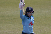 WICKET -  Tammy Beaumont out for 114 during the Royal London Women's One Day International match between England Women Cricket and Australia at the Fischer County Ground, Grace Road, Leicester, United Kingdom on 4 July 2019.