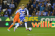 Reading's Matej Vydra controls the ball and heads to goal on his debut for Reading during the Sky Bet Championship match between Reading and Ipswich Town at the Madejski Stadium, Reading, England on 11 September 2015. Photo by Mark Davies.
