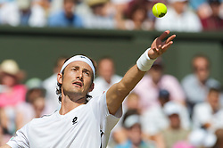 LONDON, ENGLAND - Wednesday, July 1, 2009: Juan Carlos Ferrero (ESP) during the Gentlemen's Singles Quarterfinal on day nine of the Wimbledon Lawn Tennis Championships at the All England Lawn Tennis and Croquet Club. (Pic by David Rawcliffe/Propaganda)
