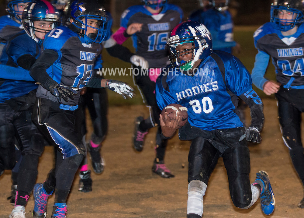 Middletown, New York - Middletown plays Valley Central in an Orange County Youth Football League Division III game at Watts Park on Oct. 22, 2016.