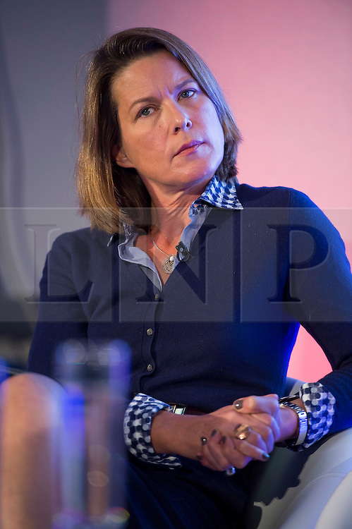 © Licensed to London News Pictures. 12/10/2015. London, UK. Economist STEPHANIE FLANDERS  speaking at the event. The launch of the Britain Stronger in Europe campaign at the Truman Building in London. The campaign is being by led by Former M&S chairman, Lord Stuart Rose. Photo credit: Ben Cawthra/LNP