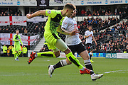 Huddersfield Town forward Jamie Paterson strikes at goal during the Sky Bet Championship match between Derby County and Huddersfield Town at the iPro Stadium, Derby, England on 5 March 2016. Photo by Aaron Lupton.