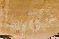 Ute style pictographs, Sego Canyon Utah