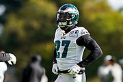 Philadelphia Eagles Malcolm Jenkins S (27) during the press, training and media day for Philadephia Eagles at London Irish Training Ground, Hazelwood Centre, United Kingdom on 26 October 2018. Picture by Jason Brown.