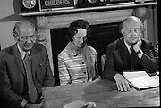 Erskine Childers Press Conference..1973..31.05.1973..05.31.1973..31st May 1973..At a press conference at Fianna Fail headquarters, Mr Erskine Childers, was confirmed as the winner of the presidential campaign. He won by a margin of 52% to 48% beating the favourite Tom O'Higgins,Fine Gael..Image of Mr Jack Lynch, Leader of Fianna Fail, at the press conference to celebrate his candidate, Mr Erskine Childers,winning the presidential race. Included is Mrs Rita Childers.