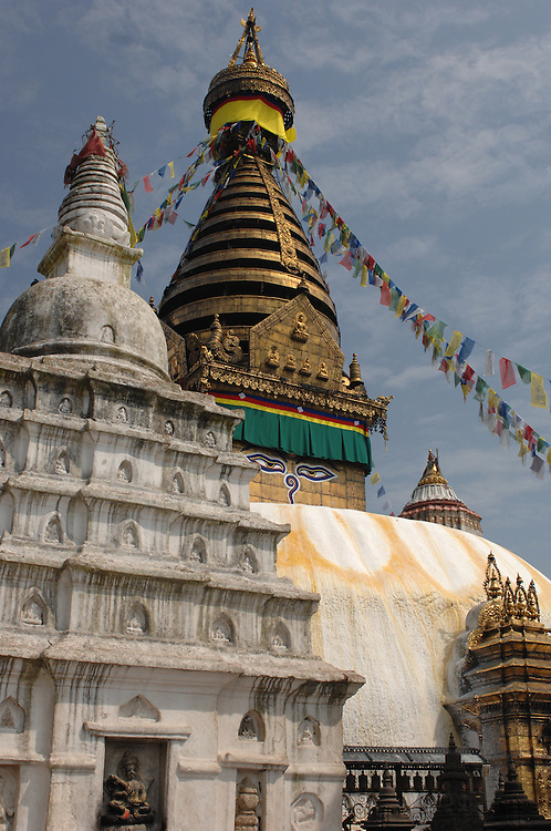 The Swayambhunath stupa - aka the Monkey Temple - in Nepal.