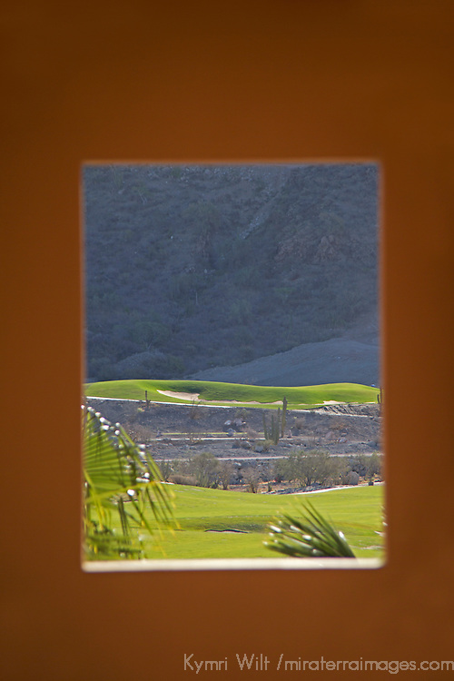 Mexico, Baja California Sur, Loreto. Villa del Palmar Loreto view of golf course.