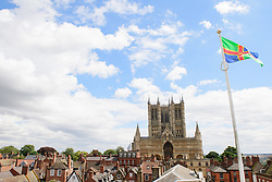 Lincoln Cathedral seen from the wall walk at Lincoln Castle.<br /> <br /> Picture: Chris Vaughan Photography<br /> Date: August 4, 2017