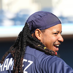 March 15, 2011; Port Charlotte, FL, USA; Tampa Bay Rays left fielder Manny Ramirez (24) before a spring training exhibition game against the Florida Marlins at Charlotte Sports Park.  Mandatory Credit: Derick E. Hingle-US PRESSWIRE