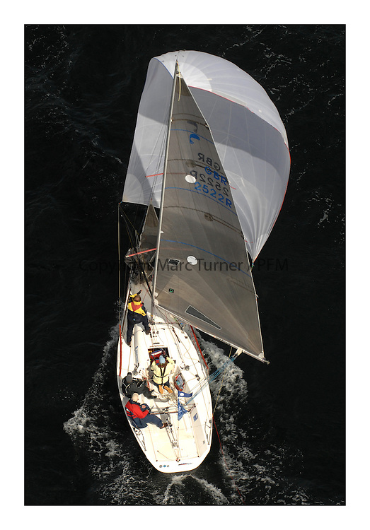 Sailing - The 2007 Bell Lawrie Scottish Series hosted by the Clyde Cruising Club, Tarbert, Loch Fyne..Brilliant first days conditions for racing across the three fleets...sportboat 2,  GBR2522 No limit.